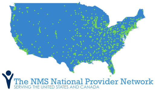 NMS National Provider Network. Over 1,500 occupational health clinics and growing